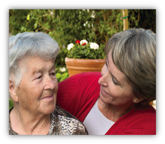 A Yad Sarah volunteer shows compassion to the caregiver of someone ill or elderly