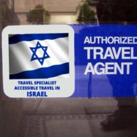 Window sticker with Israeli flag, Authorized Travel Agent, Travel Specialist Accessible Travel in Israel