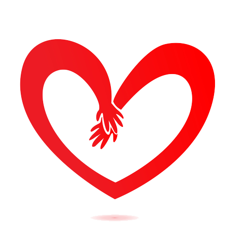 Heart ending with hands