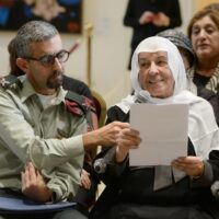Samira and son Alaa Abu Rukun Celebrating 45th Anniversary of Yad Sarah