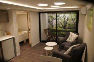 View of Living Room, Kitchenette & Washroom for Yad Sarah Hospitality Centre